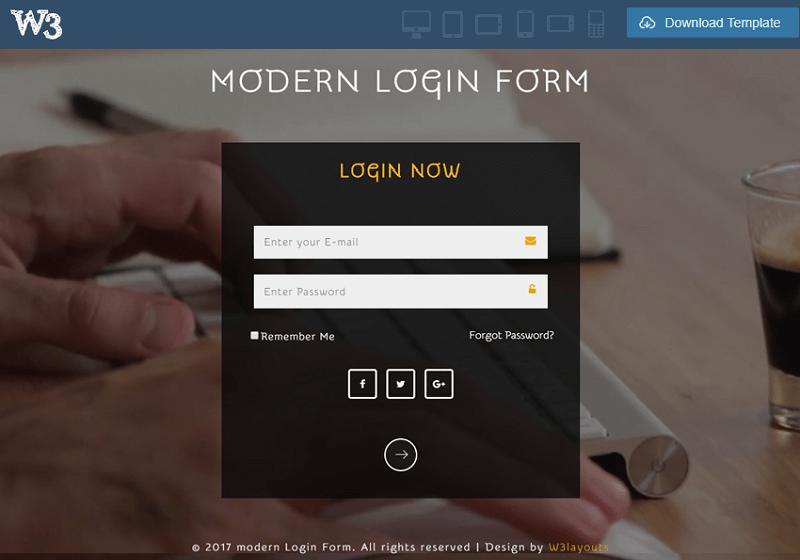 Modern Login Form