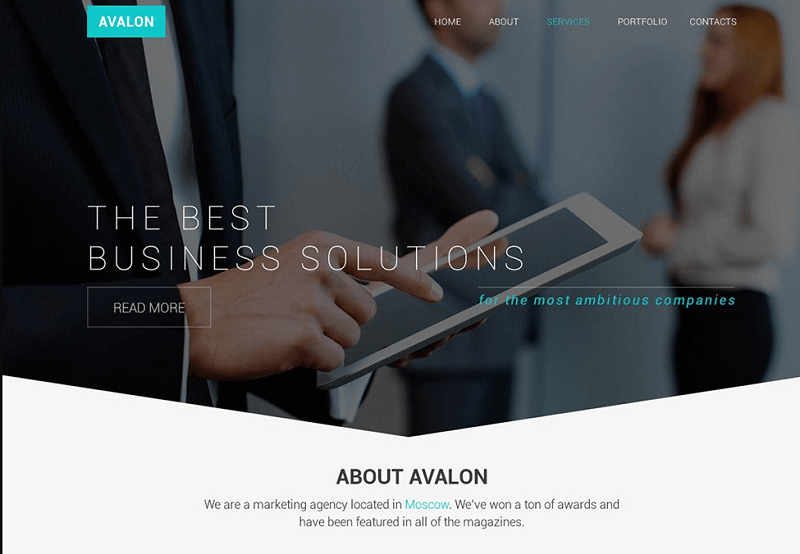 Multipurpose Business Web Template PSD