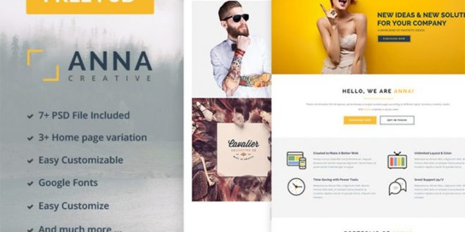 Free Multipurpose PSD Website Templates