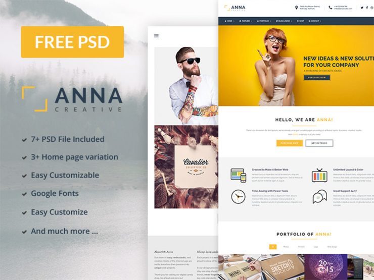 18 best free multipurpose psd website templates multipurpose business website template free psd theme friedricerecipe Images