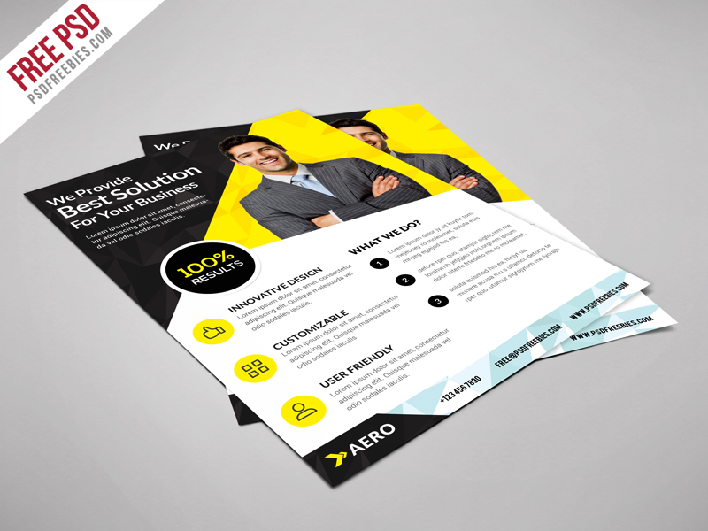 Multiuse Corporate Business Flyer Free PSD