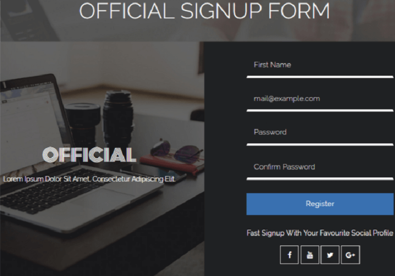 Official Signup Form