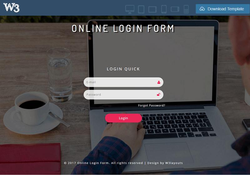 Online Login Form