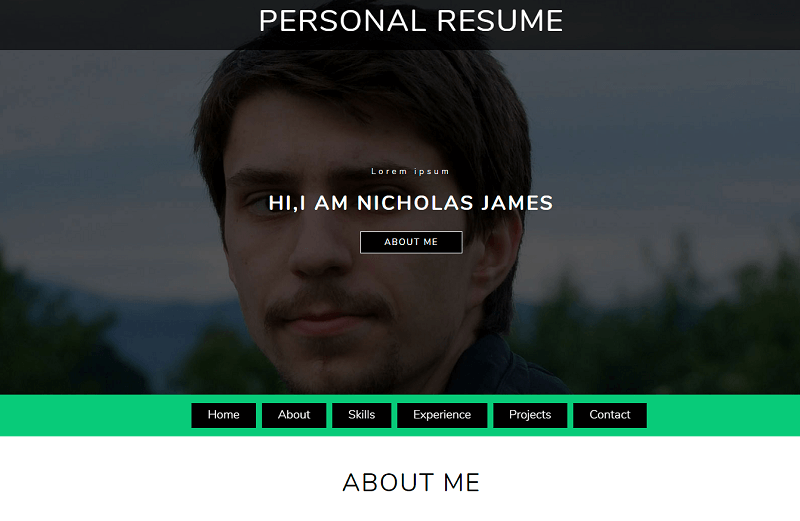 Personal Resume