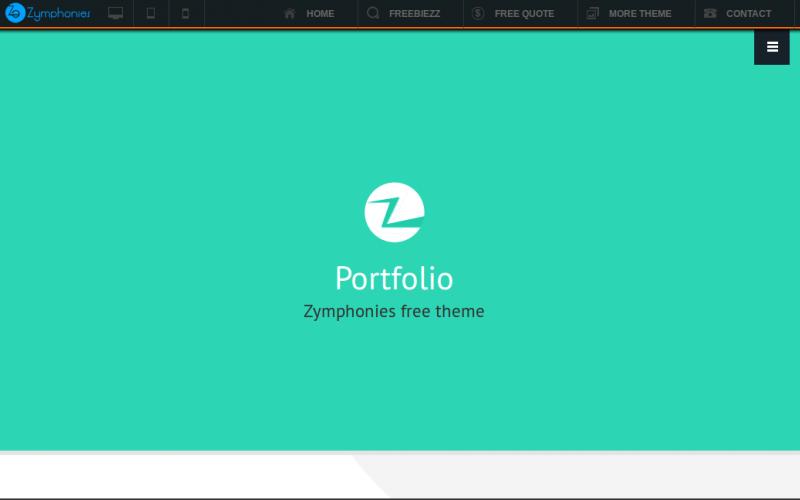 Portfolio Zymphonies Theme