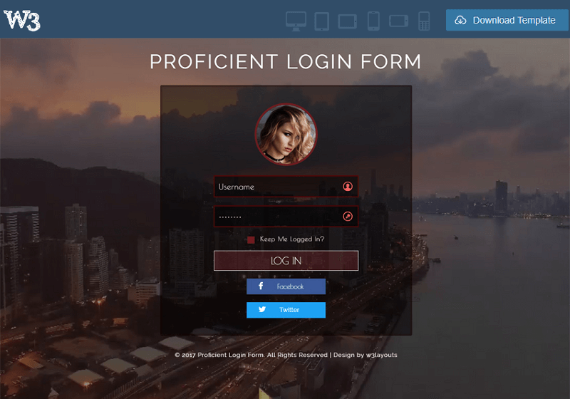 Proficient Login Form