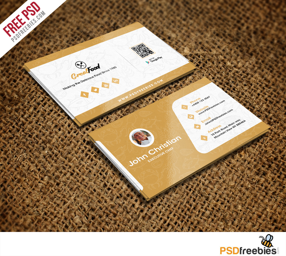 Restaurant Chef Business Card