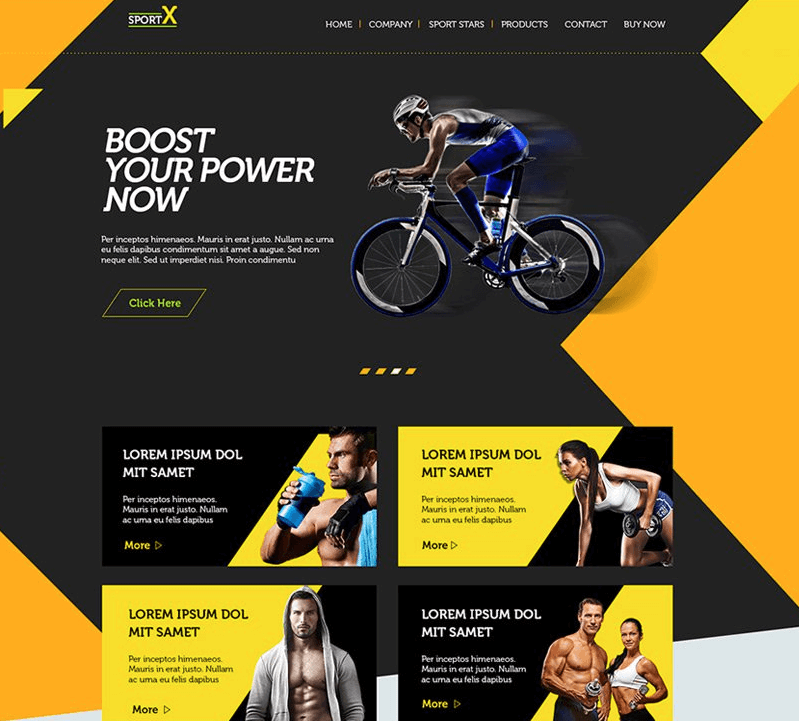 Sports Shop Multipurpose Web Template PSD