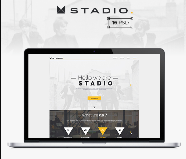 Stadio – Free Multipurpose PSD Website Template