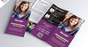 TriFold Brochure PSD Templates