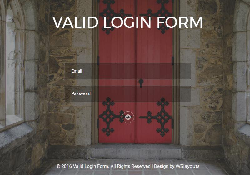 Valid Login Form
