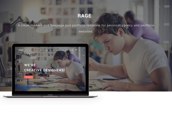 Rage Modern Psd Website Template