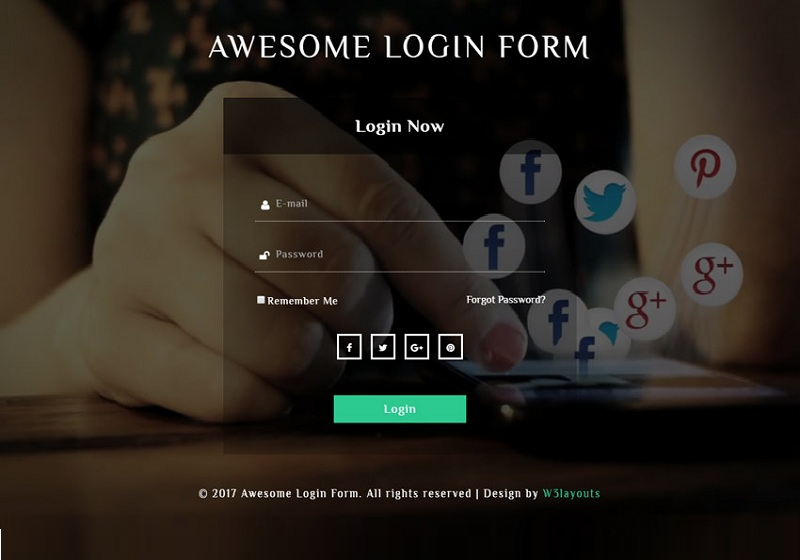 Awesome Login Form