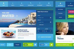 Free Hotel PSD Website Templates