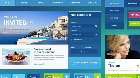 Free Hotel PSD Website Templates