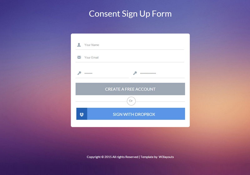Consent Flat Signup Form