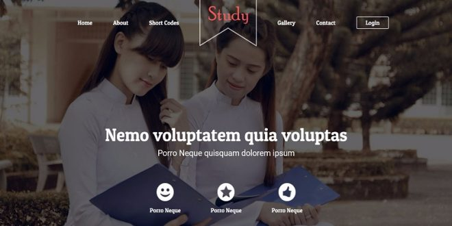 Free Study Html Website Templates