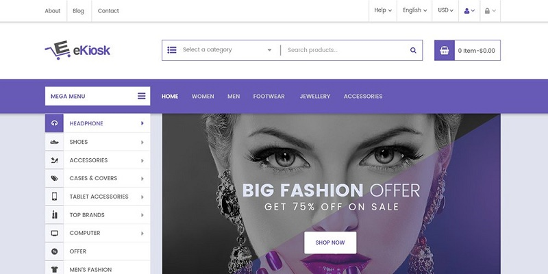 eKiosk – E-commerce Web Template PSD