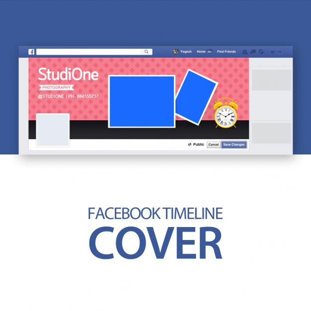 Facebook cover template Free Psd