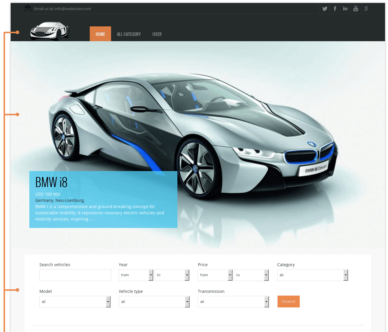 Car Template - Free Joomla theme