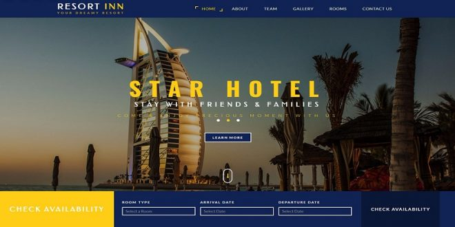Free Hotel Booking Html Website Templates