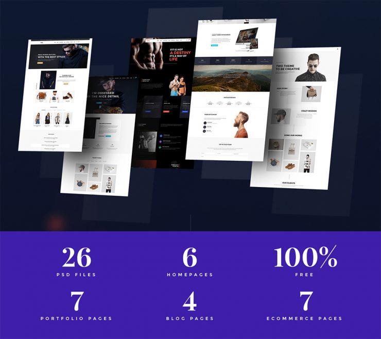 Multipurpose Website Templates Free PSD