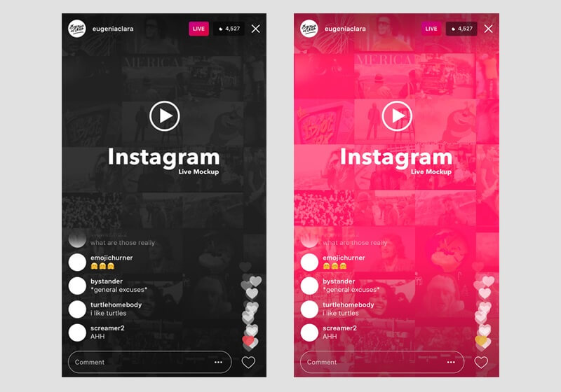 Instagram Live Interface