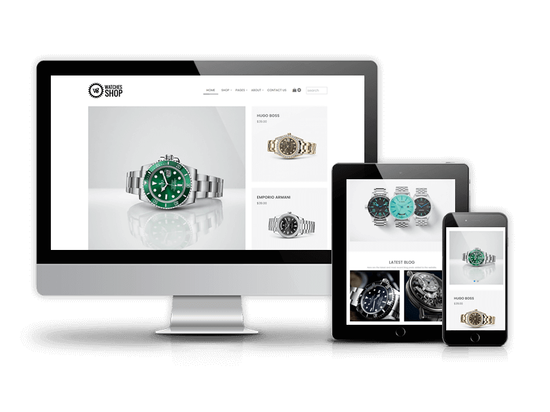 Watches Shop - Free  Virtuemart Joomla template