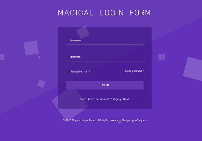 Magical Login Form