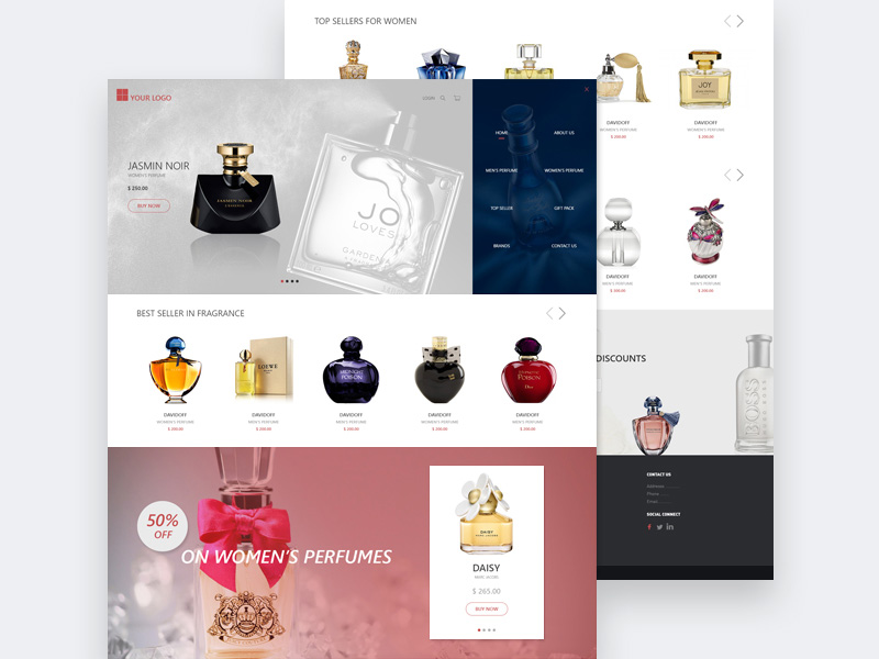 Perfume Online Store Template PSD