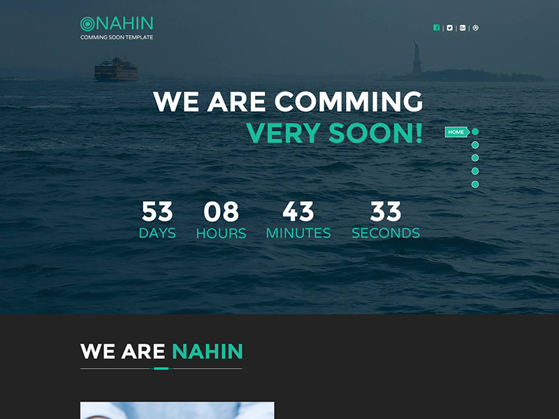 NAHIN Coming Soon Template