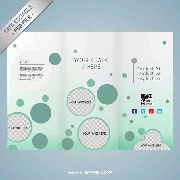 PSD editable brochure design