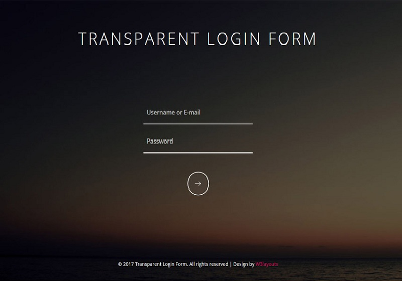 Transparent Login Form