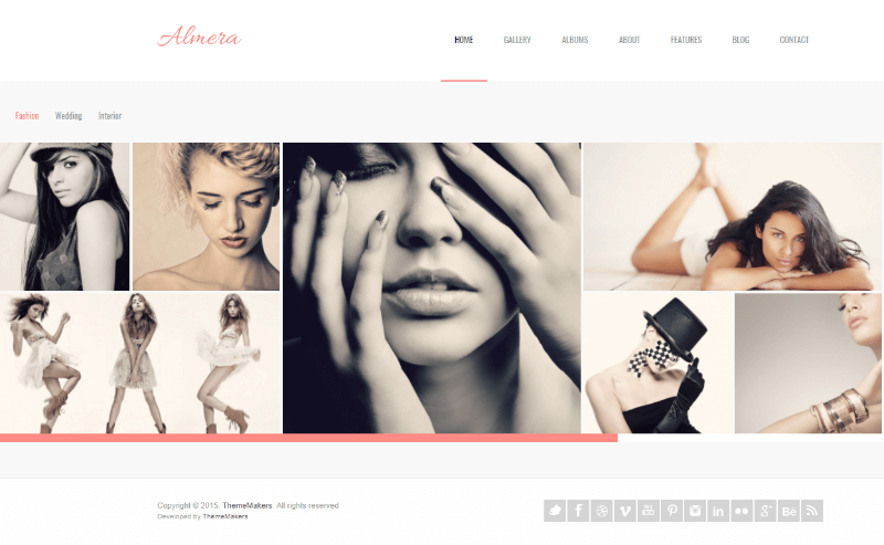 Almera  Model Agency & Photo Portfolio WordPress Theme