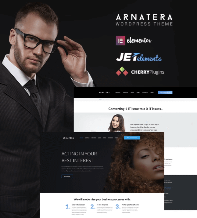 Arnatera - IT Consulting Responsive WordPress Theme