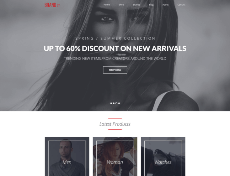 Brandly – Free Single Page Web Template PSD