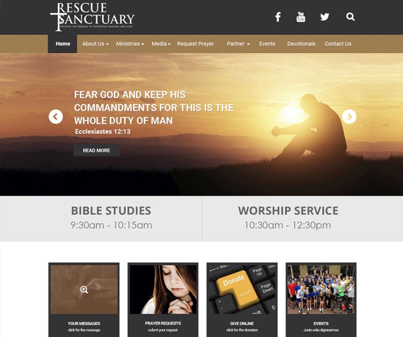 CHURCH Free Website PSD
