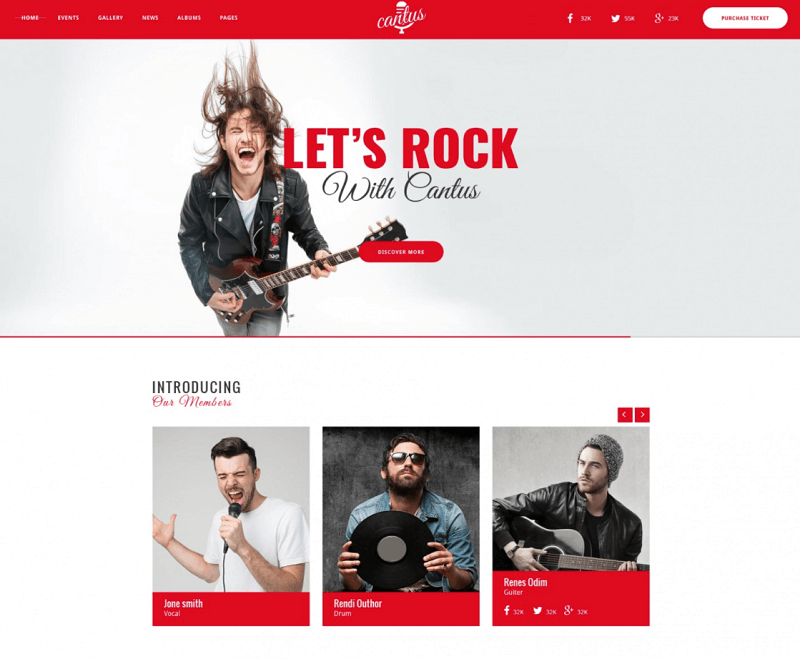 Cantus – Free Website PSD Template