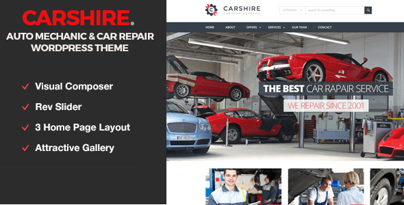 Automobiles WordPress Themes