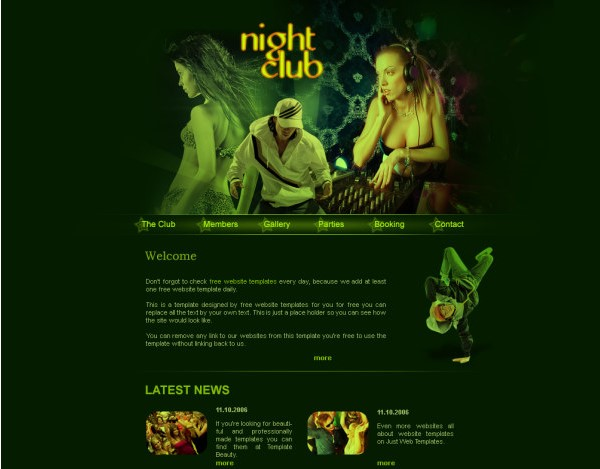 Classic Dj Music Website Template Psd