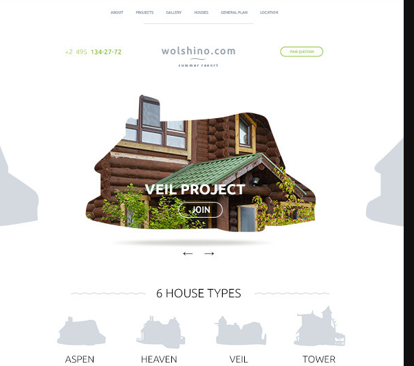 Clean Real Estate Website Template PSD