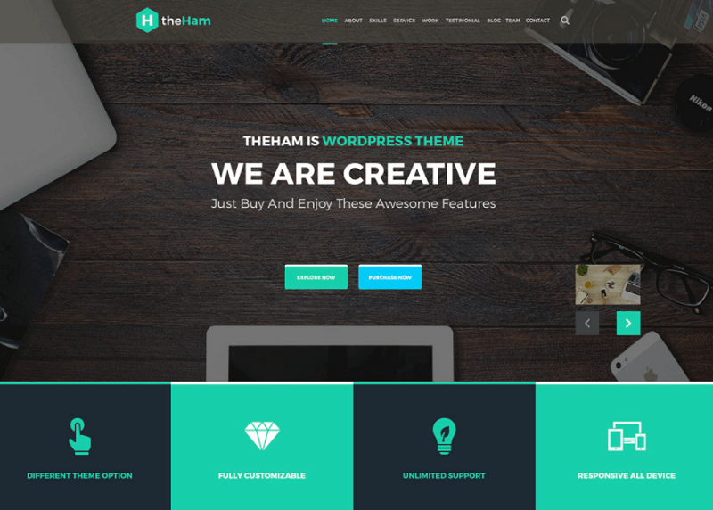 Creative Landing Page PSD Template (Freebies)