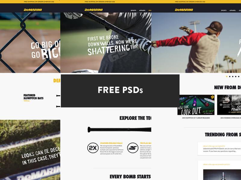 Demarini Sports - Free PSDs