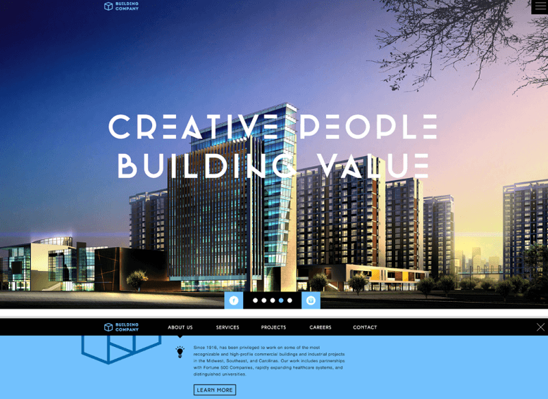 FREE Website PSD for Building Company