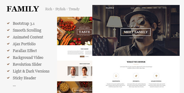 8 Best Family HTML Website Templates 2019