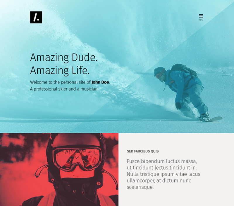 Free One Page Web Design PSD