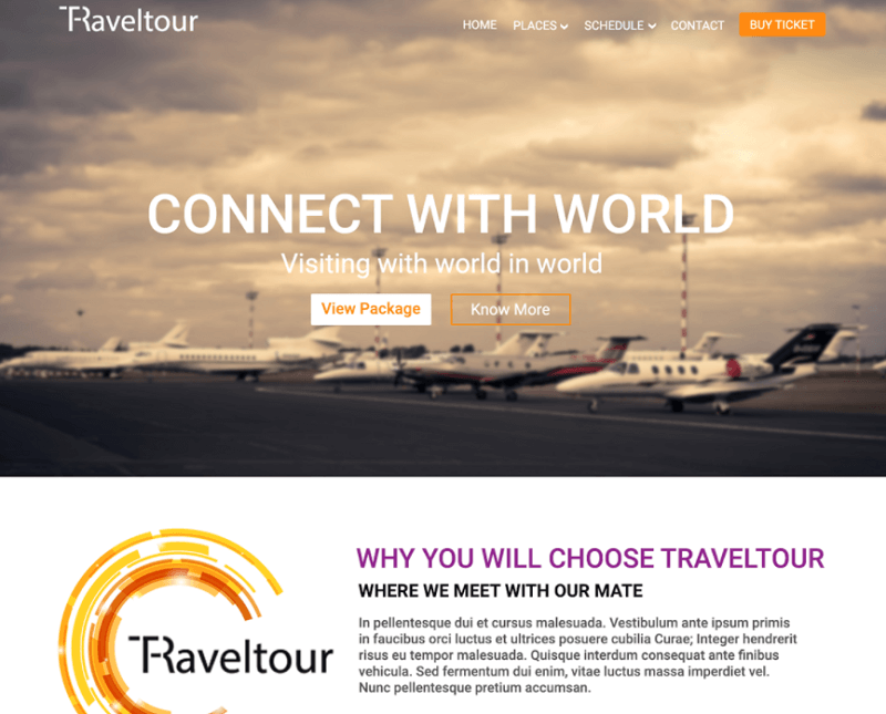 Free PSD template for Travel Site | Traveltour