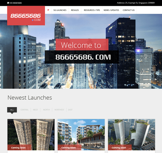 Free Real Estate PSD Template