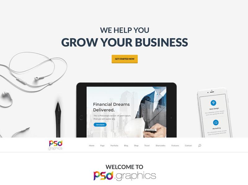 Freebie: Professional Business Website Template PSD
