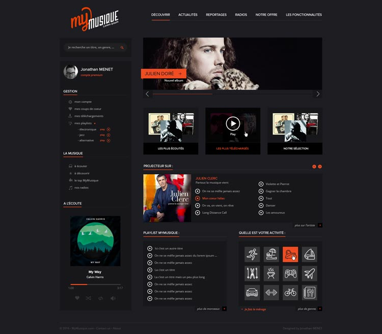 MyMusique Website Template – Free PSD